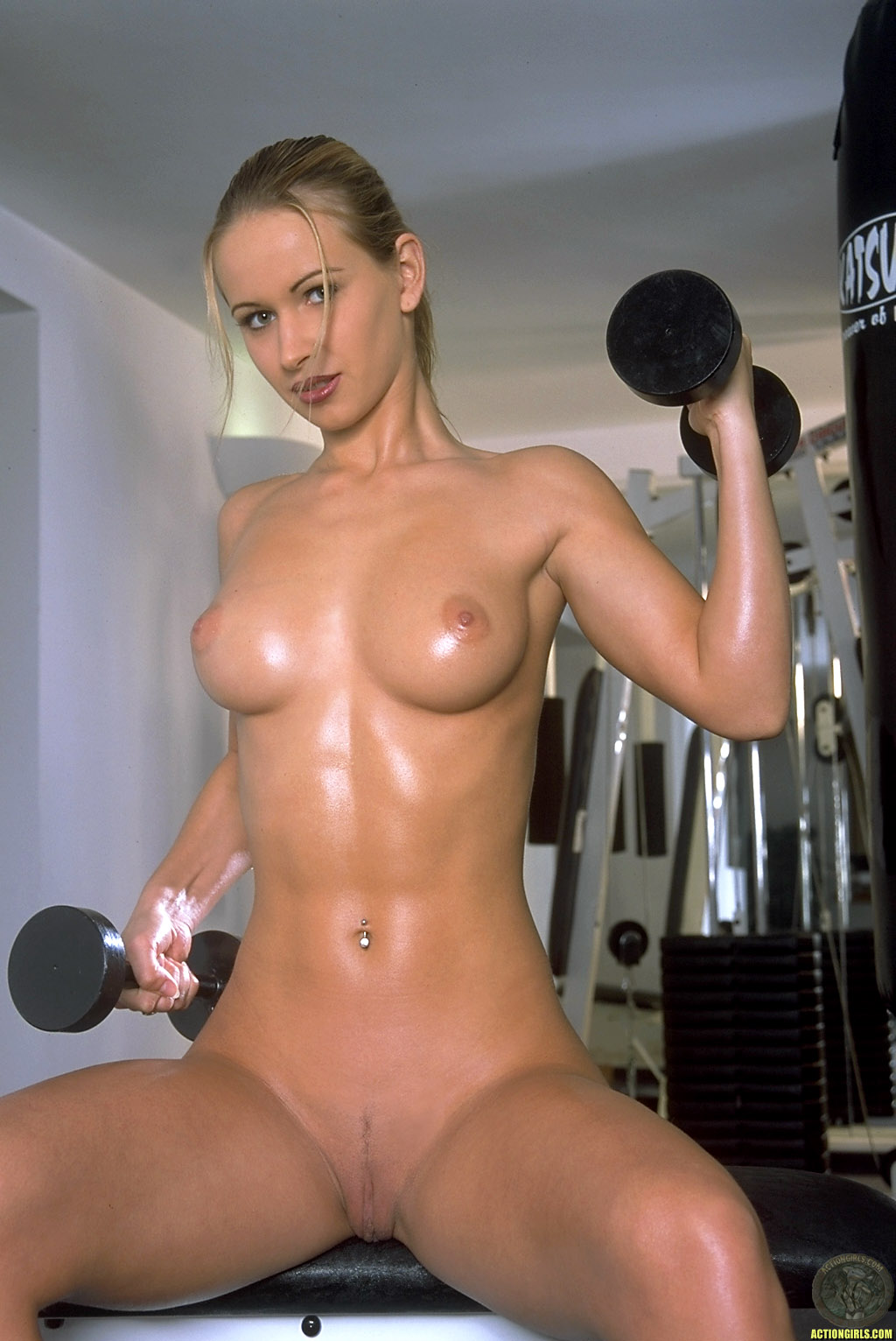 Hot fitness girls nude workout video