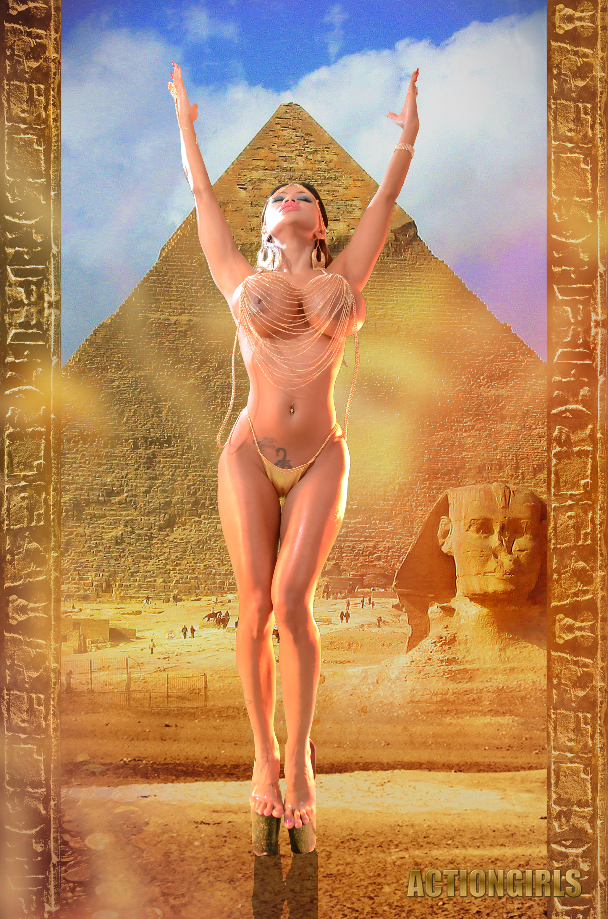 naked egyptian girls action
