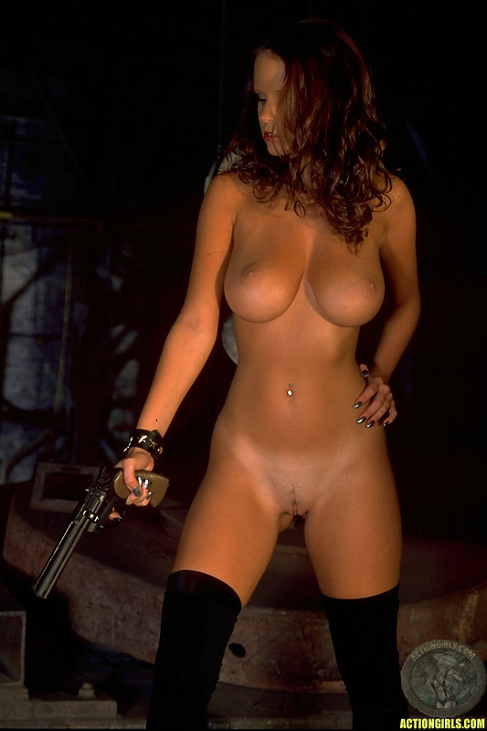 Action Girls Nude With Gun